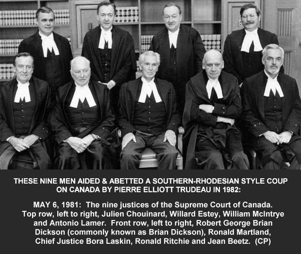 May 6, 1981 photo of Canada's Supreme Patriation Board